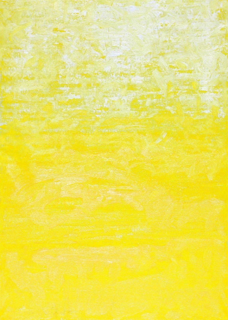 Robert Gregory Phillips Abstract Painting - One Morning In Yellow, Abstract Contemporary Painting