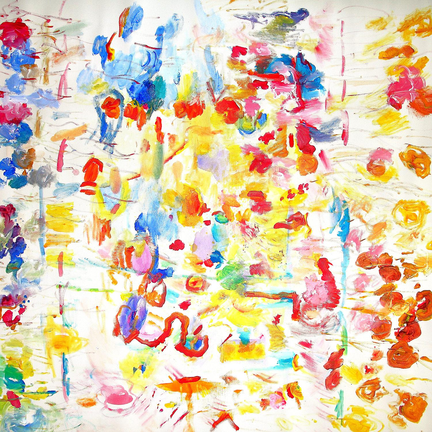 Patience, Kindness And Love, Abstract Expressionistic Painting