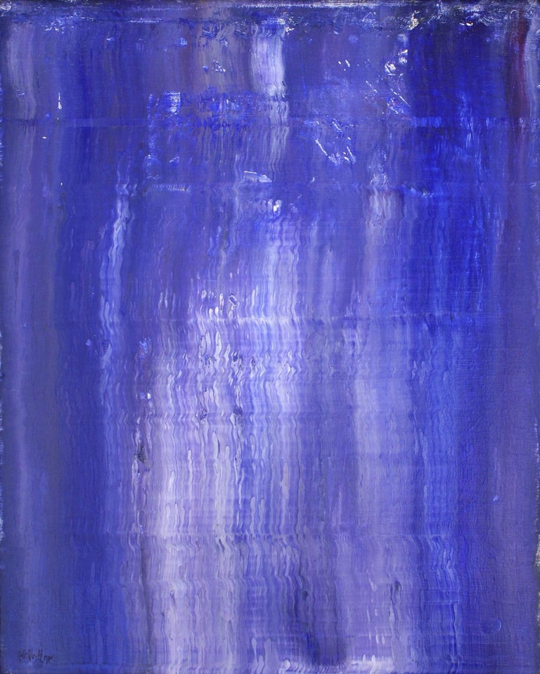 Vertical Relationships of Blue - Painting by Robert Gregory Phillips