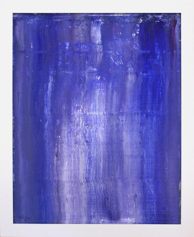 Robert Gregory Phillips Abstract Painting - Vertical Relationships of Blue