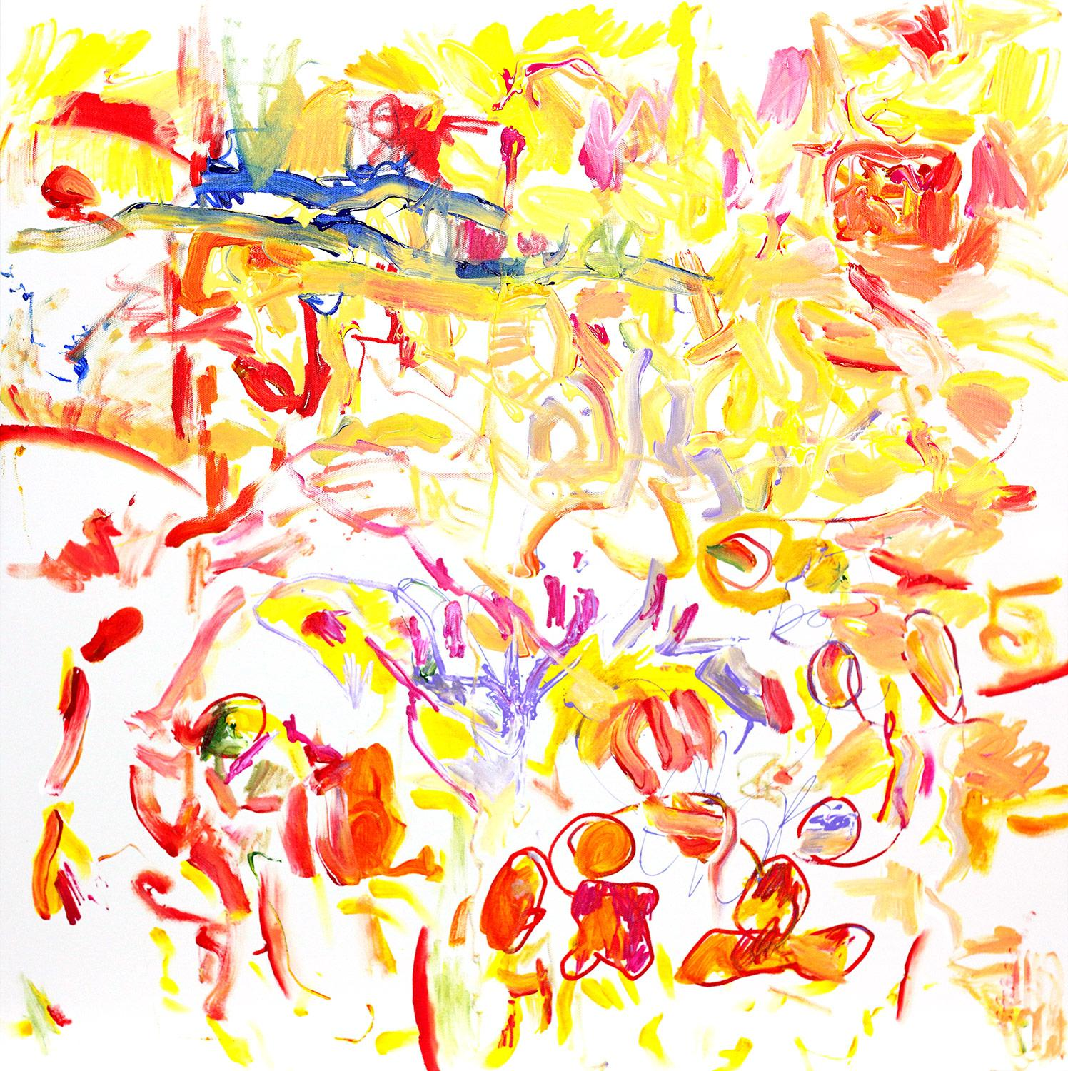 Waiting On The Heart, Abstract Expressionistic Painting