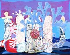 Poem of the River, Robert Gutierrez, 2012, Gouache, Clayboard Panel, Figurative