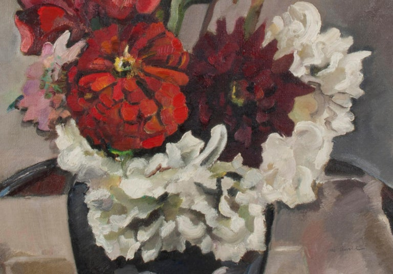Full Bloom - American Impressionist Painting by Robert Hallowell