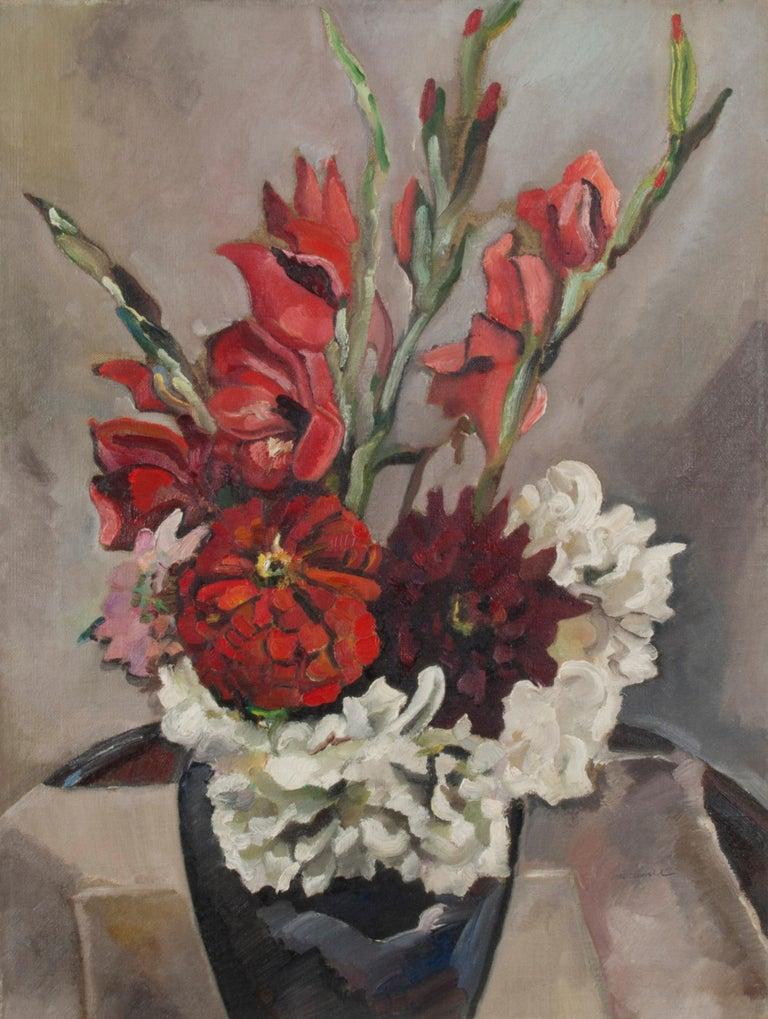 Robert Hallowell Still-Life Painting - Full Bloom