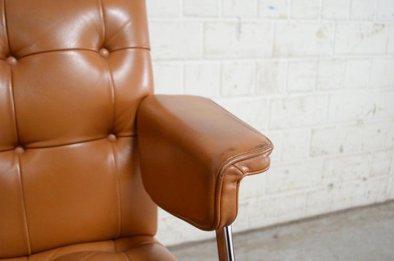 Robert Haussmann De Sede RH 305/ 304 UNESCO Softpad Chairs Chair Cognac For Sale 3