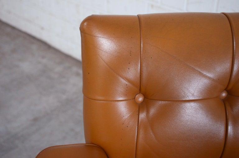 Robert Haussmann De Sede RH 305/ 304 UNESCO Softpad Chairs Chair Cognac For Sale 4