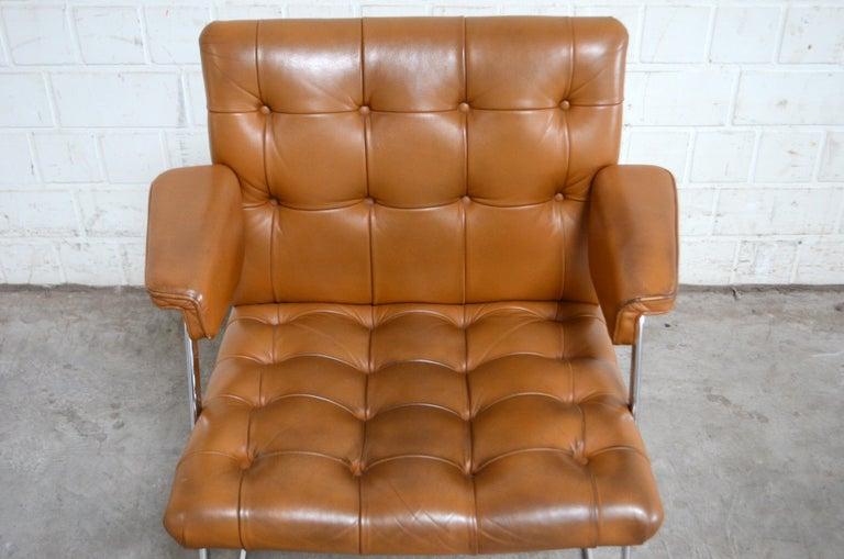 Robert Haussmann De Sede RH 305/ 304 UNESCO Softpad Chairs Chair Cognac For Sale 6