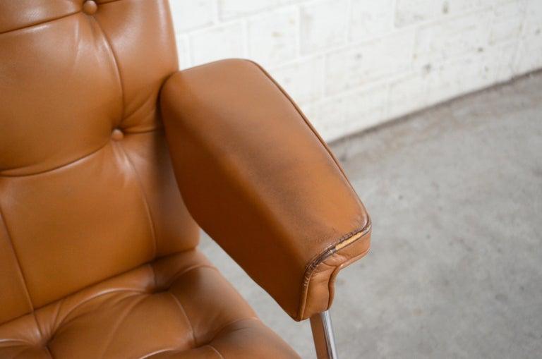 Robert Haussmann De Sede RH 305/ 304 UNESCO Softpad Chairs Chair Cognac For Sale 7