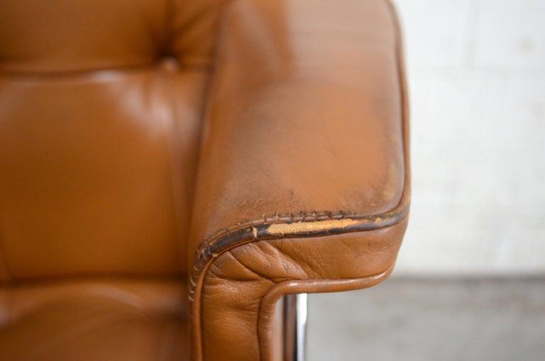 Robert Haussmann De Sede RH 305/ 304 UNESCO Softpad Chairs Chair Cognac For Sale 8
