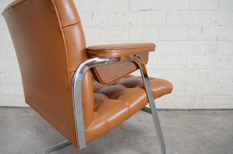 Robert Haussmann De Sede RH 305/ 304 UNESCO Softpad Chairs Chair Cognac For Sale 9
