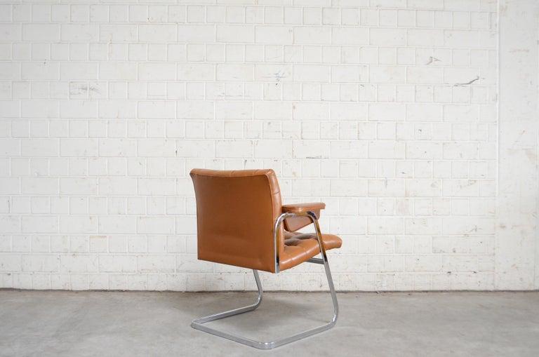 Robert Haussmann De Sede RH 305/ 304 UNESCO Softpad Chairs Chair Cognac For Sale 10