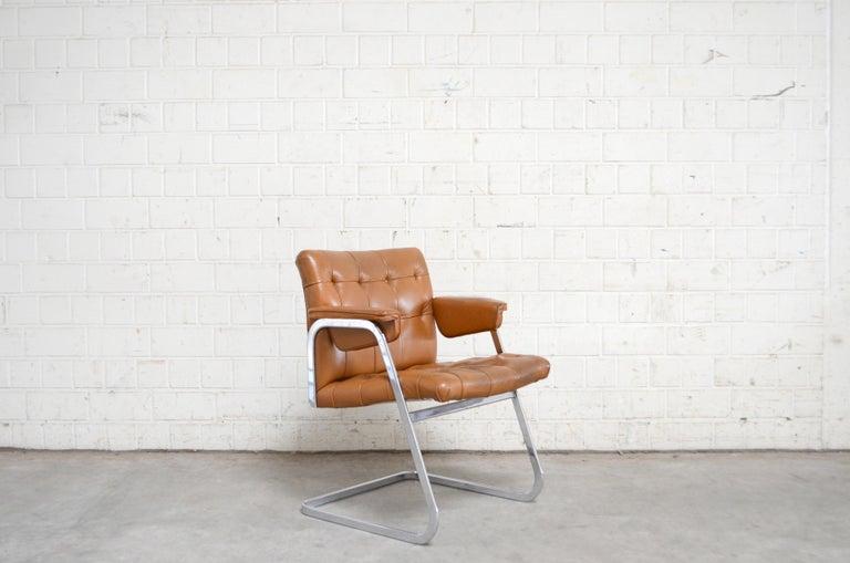 Robert Haussmann De Sede RH 305/ 304 UNESCO Softpad Chairs Chair Cognac For Sale 12