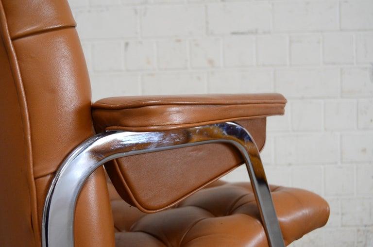 Robert Haussmann De Sede RH 305/ 304 UNESCO Softpad Chairs Chair Cognac For Sale 13