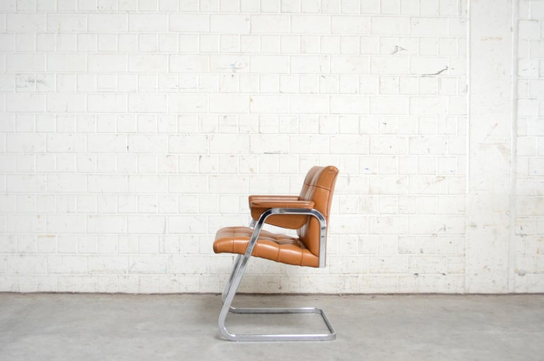 Robert Haussmann De Sede RH 305/ 304 UNESCO Softpad Chairs Chair Cognac In Good Condition For Sale In Munich, Bavaria