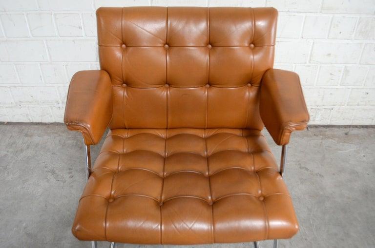 Robert Haussmann De Sede RH 305/ 304 UNESCO Softpad Chairs Chair Cognac For Sale 1