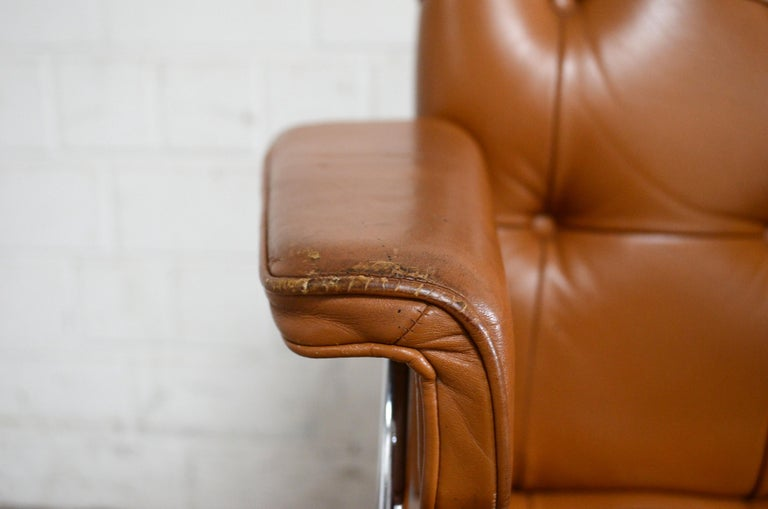 Robert Haussmann De Sede RH 305/ 304 UNESCO Softpad Chairs Chair Cognac For Sale 2