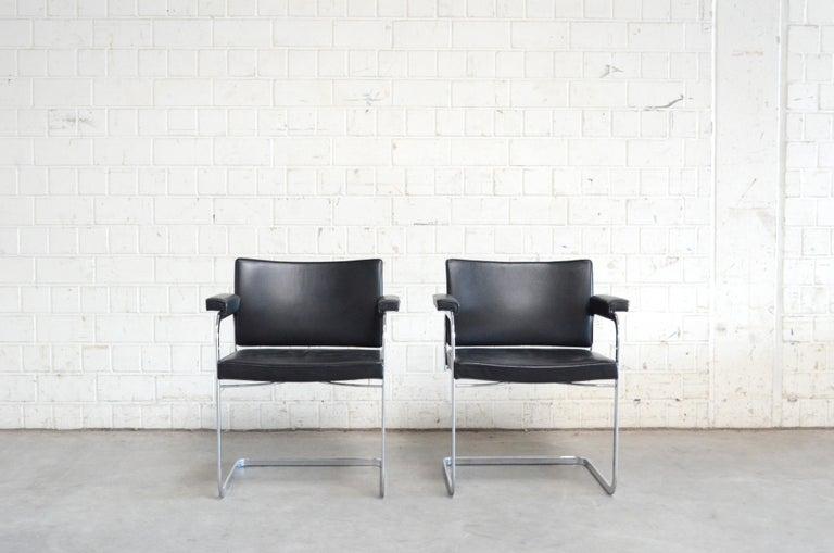 Mid-Century Modern Robert Haussmann De Sede RH 305 Chair Black For Sale