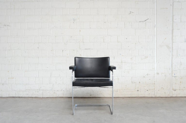 Robert Haussmann De Sede RH 305 Chair Black In Good Condition For Sale In Munich, Bavaria