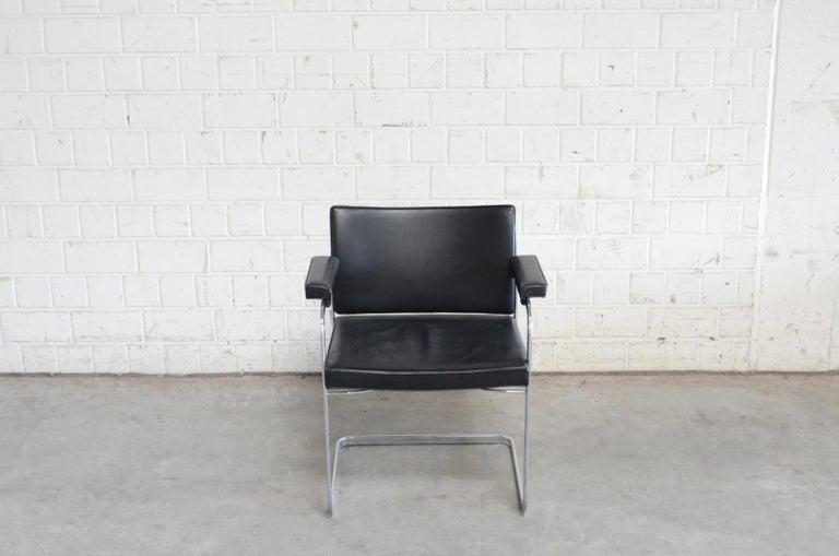 20th Century Robert Haussmann De Sede RH 305 Chair Black For Sale