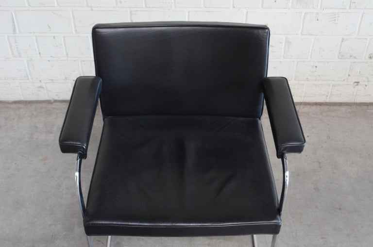 Leather Robert Haussmann De Sede RH 305 Chair Black For Sale
