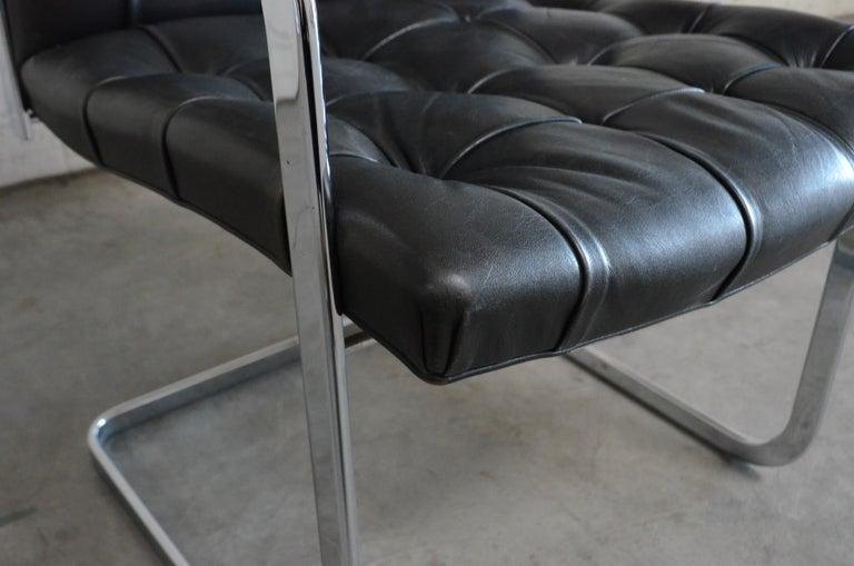 Robert Haussmann De Sede Rh 305 High Back Chair Black For Sale 4