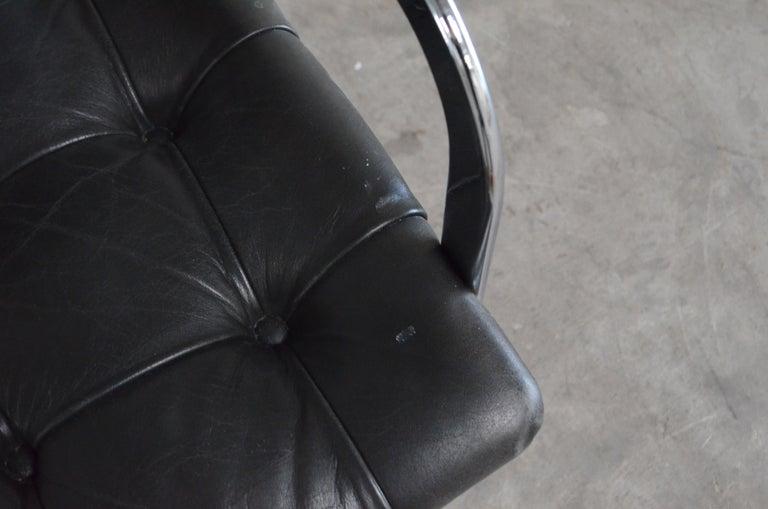 Robert Haussmann De Sede Rh 305 High Back Chair Black For Sale 5