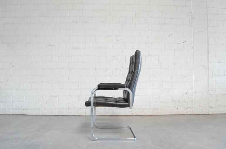 Robert Haussmann De Sede Rh 305 High Back Chair Black In Good Condition For Sale In Munich, Bavaria