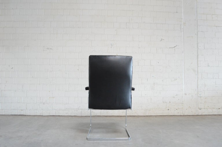 20th Century Robert Haussmann De Sede Rh 305 High Back Chair Black For Sale