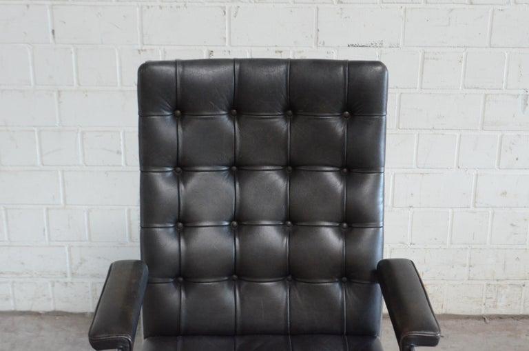 Robert Haussmann De Sede Rh 305 High Back Chair Black For Sale 1