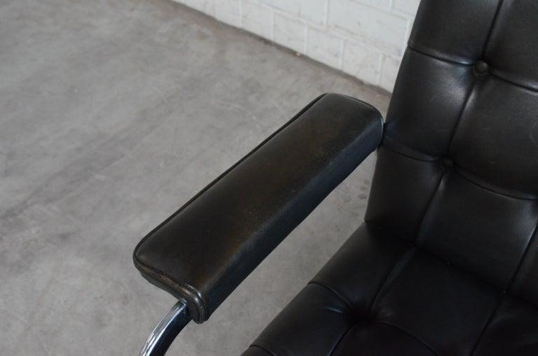 Robert Haussmann De Sede Rh 305 High Back Chair Black For Sale 2