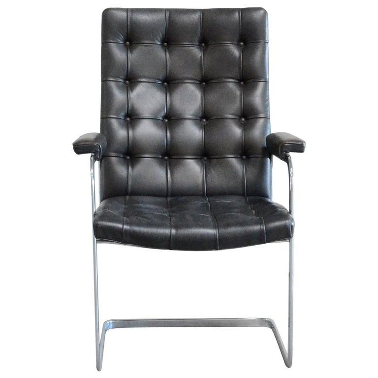Robert Haussmann De Sede Rh 305 High Back Chair Black For Sale
