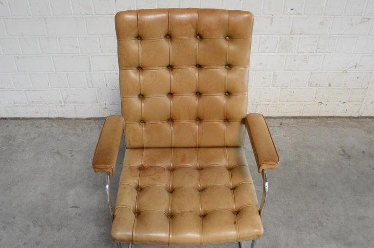 Robert Haussmann De Sede RH 305 High Back Chair Cognac For Sale 3
