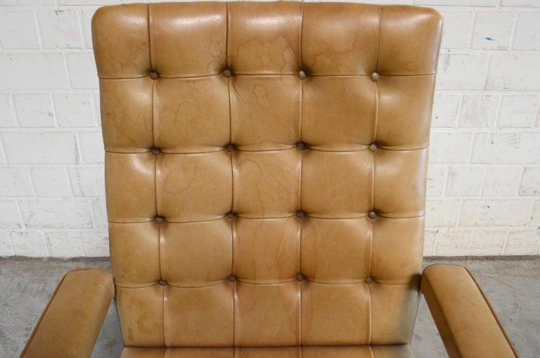 Robert Haussmann De Sede RH 305 High Back Chair Cognac For Sale 4