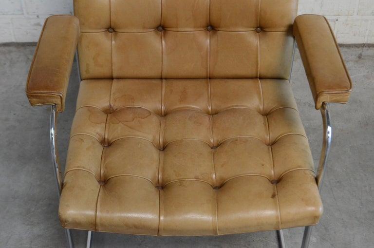 Robert Haussmann De Sede RH 305 High Back Chair Cognac For Sale 5
