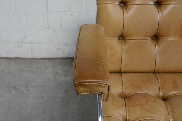 Robert Haussmann De Sede RH 305 High Back Chair Cognac For Sale 6