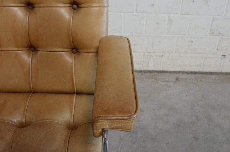Robert Haussmann De Sede RH 305 Highback Chair Cognac For Sale 7