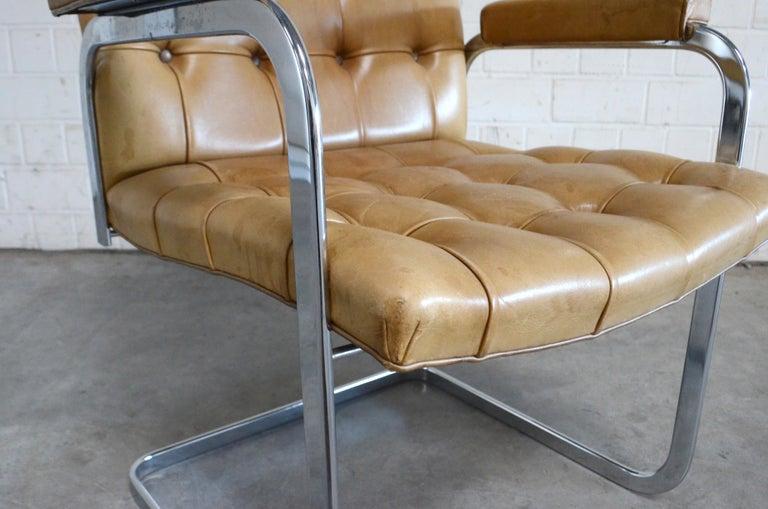 Robert Haussmann De Sede RH 305 High Back Chair Cognac For Sale 9