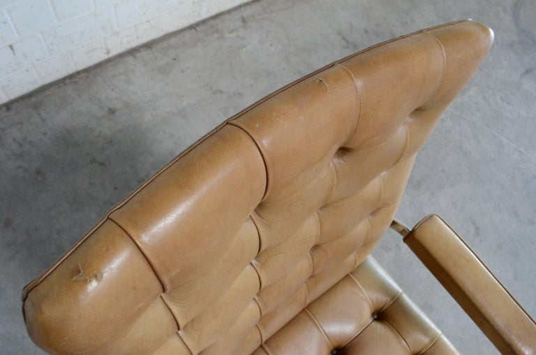 Robert Haussmann De Sede RH 305 High Back Chair Cognac For Sale 12