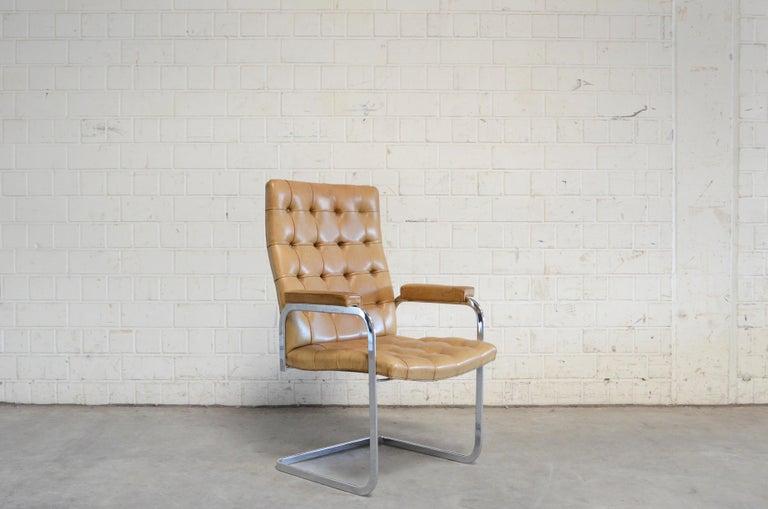 Robert Haussmann De Sede RH 305 High Back Chair Cognac In Good Condition For Sale In Munich, Bavaria