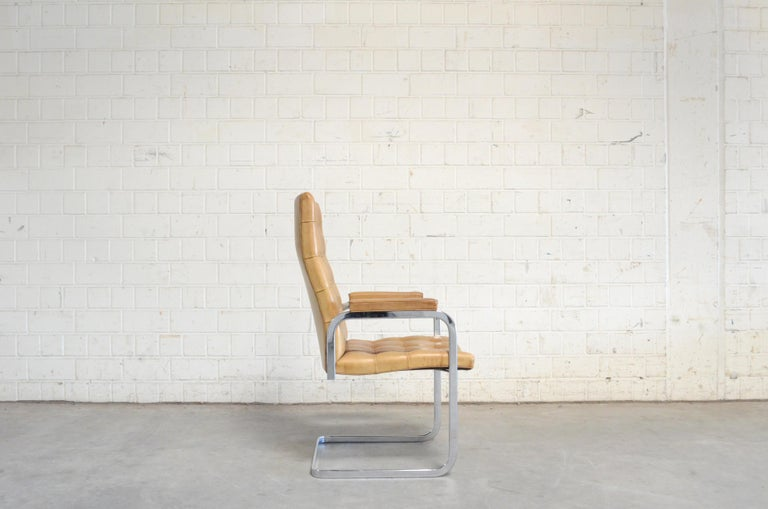 20th Century Robert Haussmann De Sede RH 305 Highback Chair Cognac For Sale