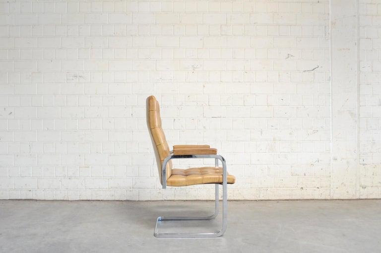 20th Century Robert Haussmann De Sede RH 305 High Back Chair Cognac For Sale