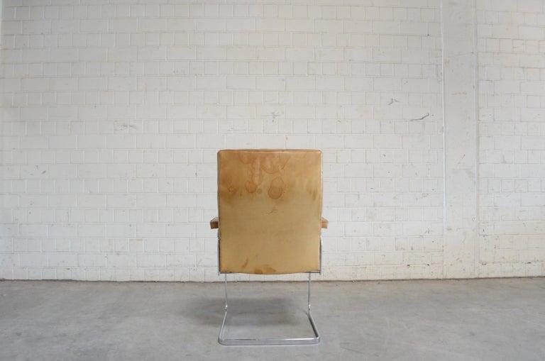Robert Haussmann De Sede RH 305 High Back Chair Cognac For Sale 1