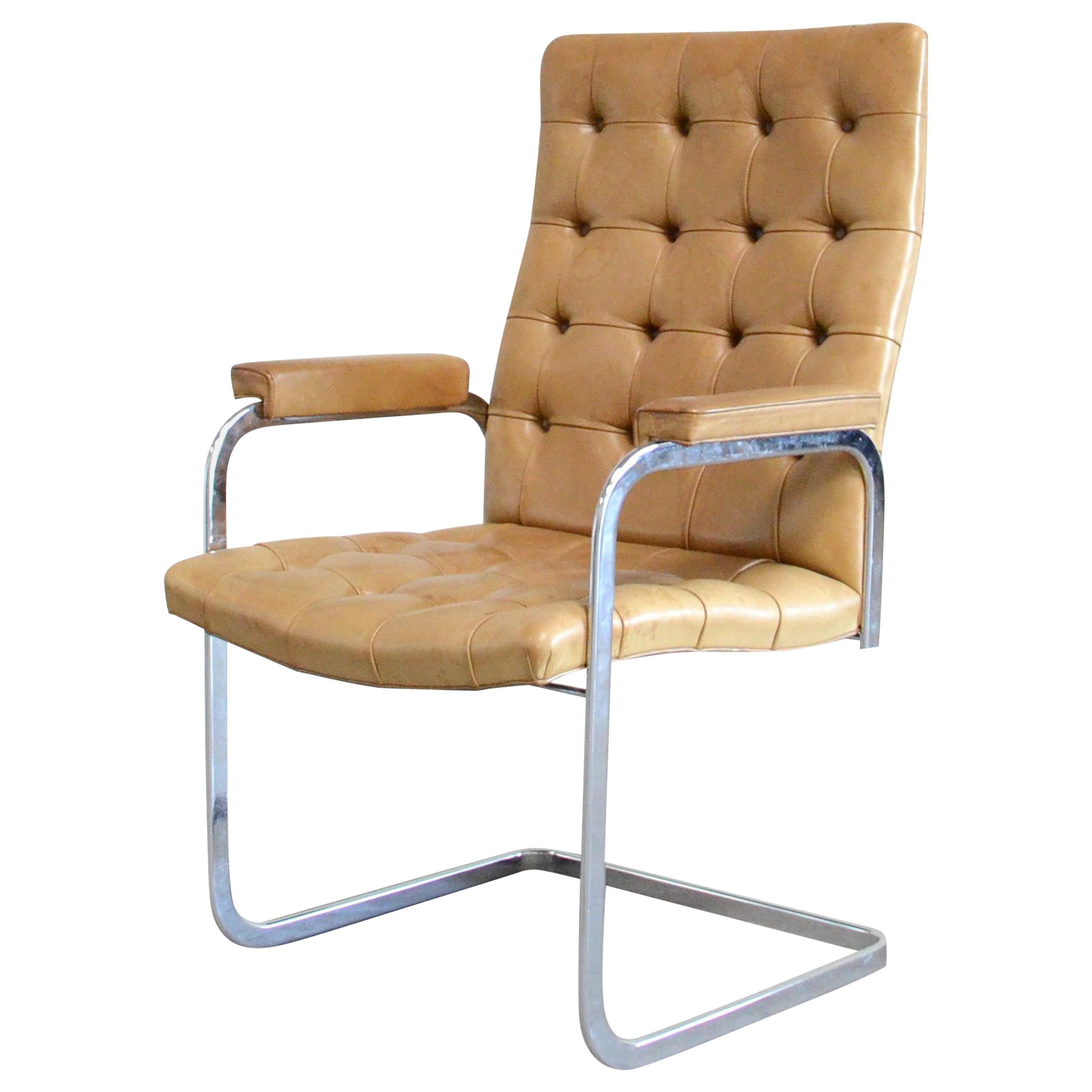 Robert Haussmann De Sede RH 305 High Back Chair Cognac