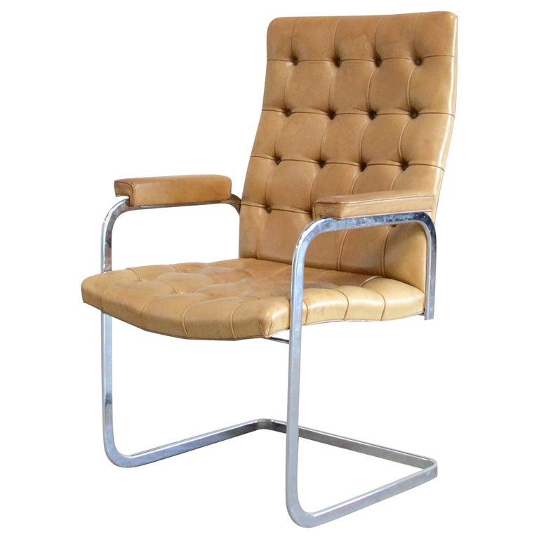 Robert Haussmann De Sede RH 305 High Back Chair Cognac For Sale