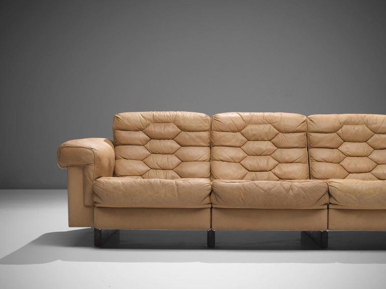 Leather Robert Haussmann for De Sede 'DS-P' Sofa For Sale