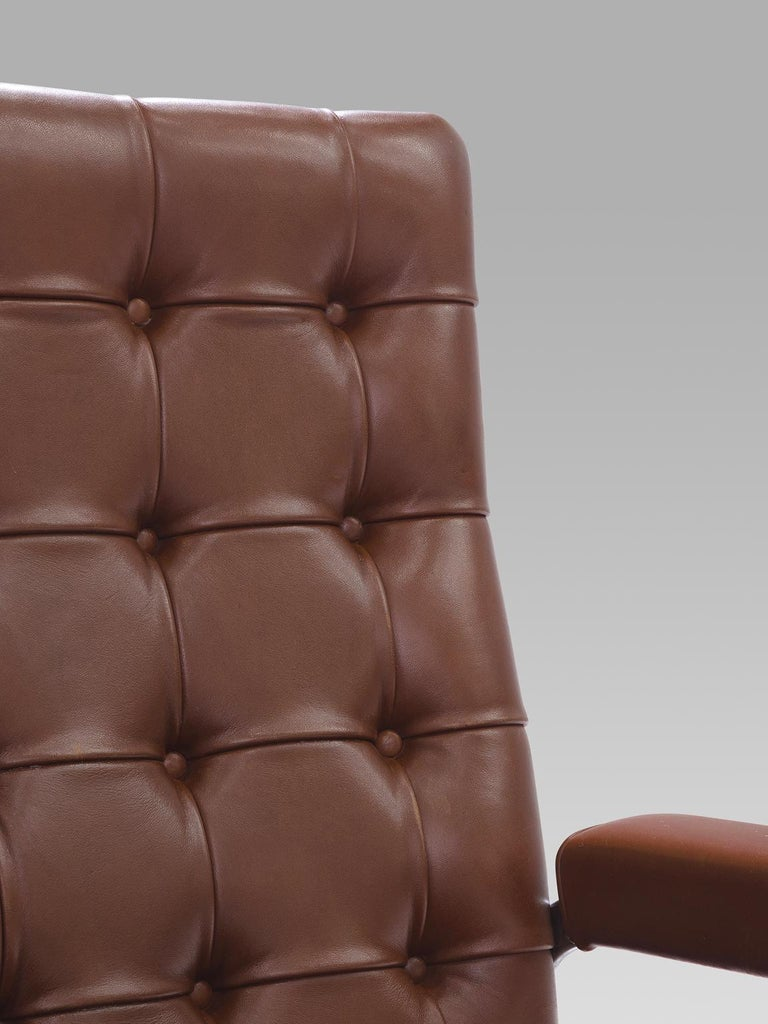 Robert Haussmann for De Sede Set of Eight Leather Chairs  For Sale 1