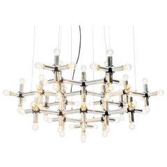 Robert Haussmann Lichtstruktur Chandelier Swiss Lamp, 1969