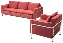 Robert Haussmann Red Living Room Set