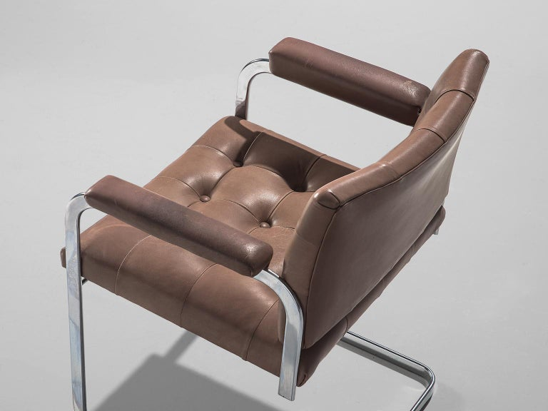 Robert Haussmann Set of Five Leather Armchairs For Sale 1