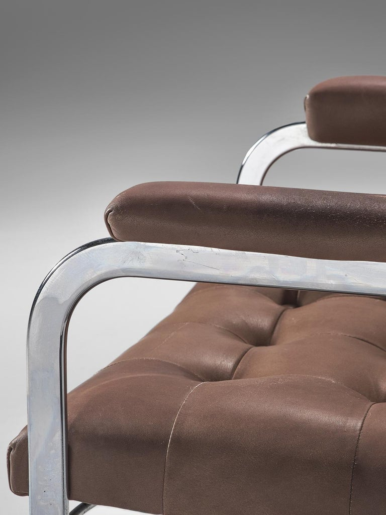 Robert Haussmann Set of Five Leather Armchairs For Sale 2